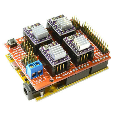 CNC V3 Shield + UNO R3 for Arduino Compatible Board + 4x TI DRV8825 StepSti B3C4