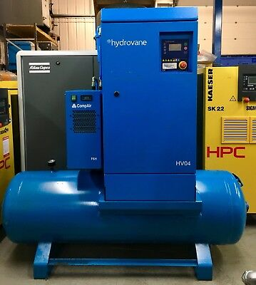 Hydrovane HV04 Receiver Mounted Rotary Vane Compressor, With Filters & Dryer!