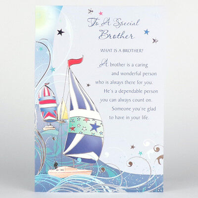 Cute Brother Happy Birthday Card 15 X Cards To Choose From