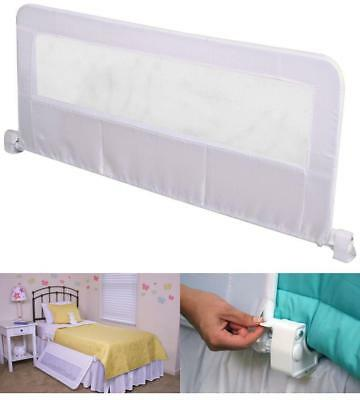Baby Safety Rail For Bed Guard Toddler Crib Child Kids Infant Mesh Railing Blue