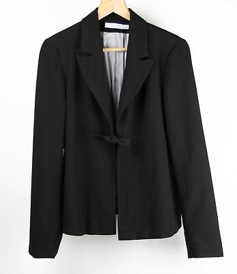 Jules Jim Womens Maternity Blazer Tie Closure Canada Size Large Black