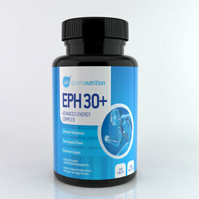 WBP Eph30+ Pre-Workout Energy Boost Weightloss Fat Burner Tablets Ephedrine Free