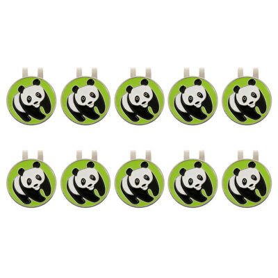 10Pcs Magnetic Hat Clip with Golf Ball Marker Clip On Cap Visor, 4 Patterns