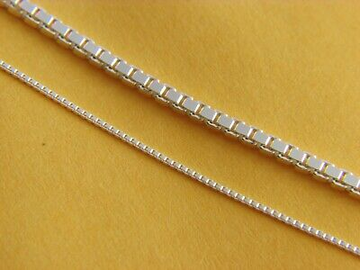 REAL 925 STERLING SILVER Box Chain Necklace REAL SILVER 0.8mm & 2mm thickness