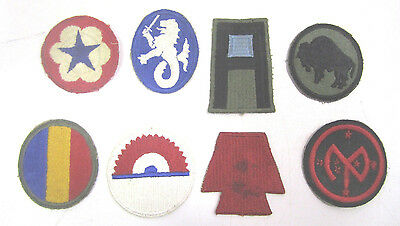 Vintage WW2 Military Cloth Patch Lot Of (8) Army Air Corp Navy Marines  (F)
