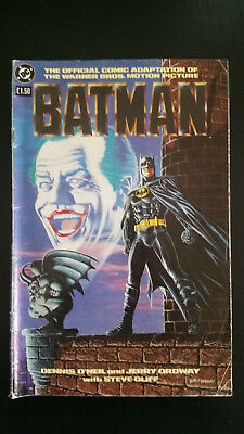 Batman official comic adaptation of the Warner Bros motion picture DC 1989