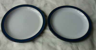 Denby Imperial blue tea plates 6.75 inch x 2 very good condition