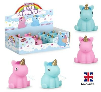 UNICORN BATH SQUIRTER Squirt Pony Toy Kids Baby Shower Water Play Fun Favor Gift