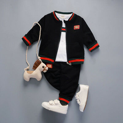 Infant Boys Fashion Sports Outfits Kids Sets Baby Clothing Cotton Page Boy Suits
