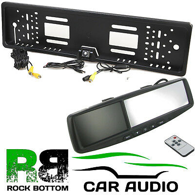 "FORD 4.3"" Rear View Reversing Mirror Monitor & Car Number Plate Camera Kit"