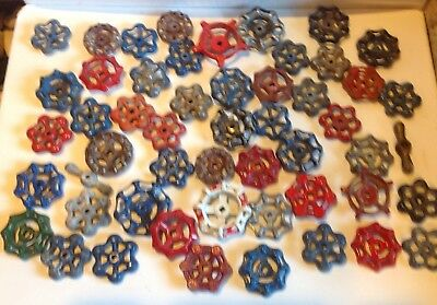 Fifty Vintage Valve Handles Water Faucet Knobs STEAMPUNK Industrial 50