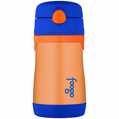 Thermos Foogo® 10OZ Vacuum Insulated Stainless Steel Straw Bottle, Orange/Blue