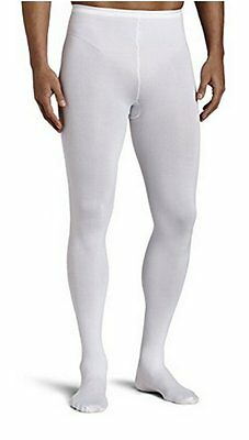 CAPEZIO TIGHTS MENS MT11 Footed Ballet Dance White Medium And  XXL Can Dye