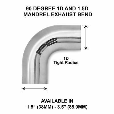 90 Degree 304 Stainless Steel Polished Mandrel Exhaust Pipe Bend Elbow