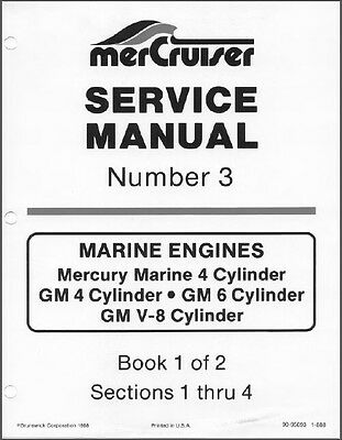 1978-1984 MerCruiser # 3 All GM 4, L6 & V8 Cyl Marine Engines Service Manual CD