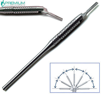 Scalpel Adjustable Handle No. 3 Set Upto 7 Angled Position Surgical Veterinary