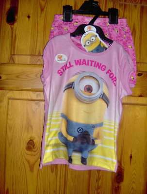GIRLS PINK MINIONS PYJAMAS   -AGE 4/5 or 7/8 YEARS