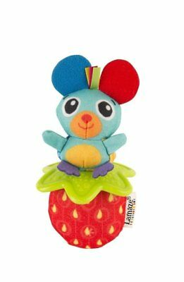 Lamaze Little Grip Rattle Mouse Soft Baby Toy shake and roll Textured Teether