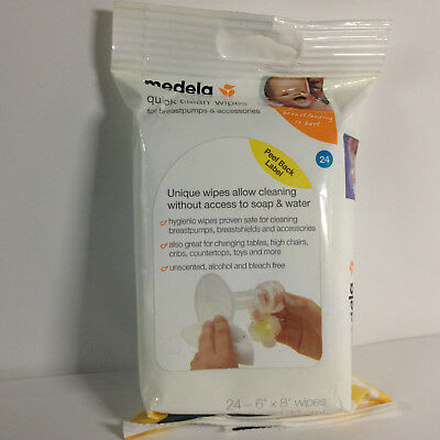 Medela Quick Clean Breast Pump and Accessory Wipes, 24 Count