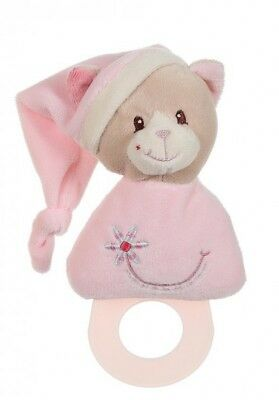 CHAT ROSE *** GIPSY - Doudou Dentition Garden 0+ (environ 17cm) - NEUF