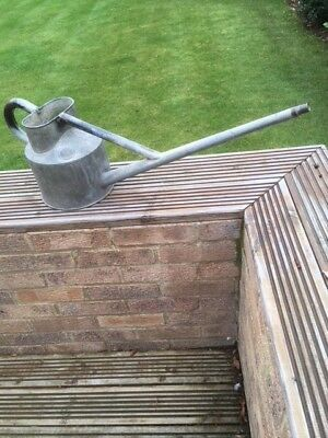 Haws long reach vintage galvanised metal watering can picclick uk Long reach watering can