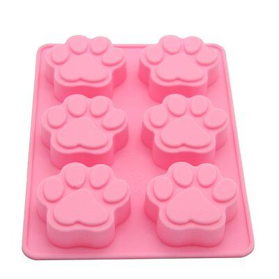 6 Paw Silicone Base Chocolate Cookie Mould Baking Ice Cube Jelly Cake Cat Dog