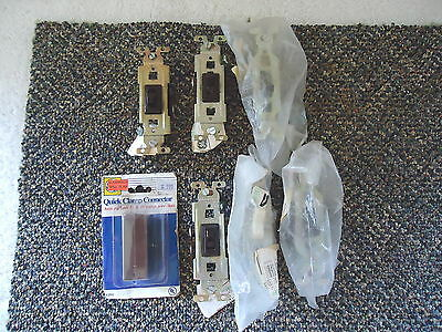 "Mixed "" NOS "" Bundled Lot Of 7 Electrical Items,6 Light Switches,1,Connector"