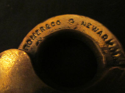 S38 antique brass padlock ROMER & CO NEWARK NJ #9 no key