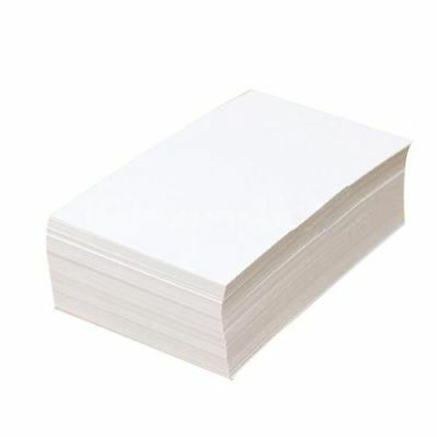 100pcs White Blank Business Cards 129gsm 90x50mm Print Your Own DTY Craft L9U2