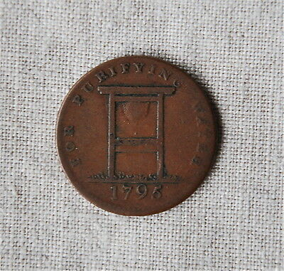 1795 Halfpenny Conder Token, Filtering Stone Water, Middlesex Coventry Street