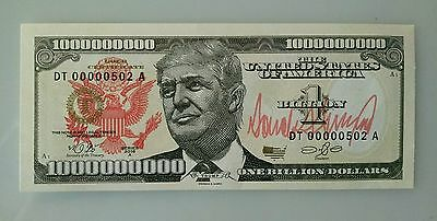 2017 Inauguration President Donald Trump Billion Dollar Bill Commemorative Essay