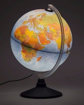 Globe 25cm Physical Features change to Political Features when Lit Up Elite