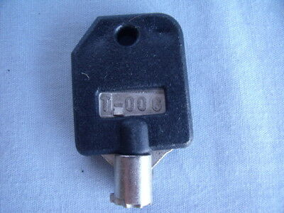 Tubular Lock Key T-006 BLACK for 1800 vend bulk SSF LYPC V-line Bulk Vending! b7