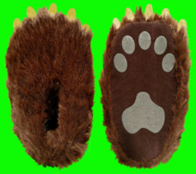 XL Extra Large Adult Bear Paw Claw Slippers Fits Mens 10, 11, 12, 13, 14 shoe