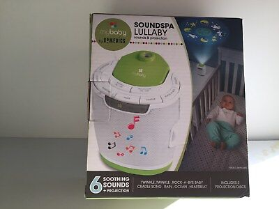 Mybaby Sound Machine Soundspa Lullaby Projector And Homedics Baby New Portable