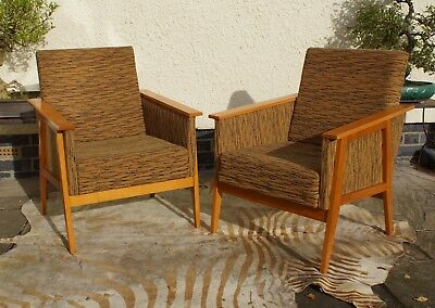 Pair Of Vintage Mid Century Cocktail Lounge Arm Chairs C1965 Oct17-23