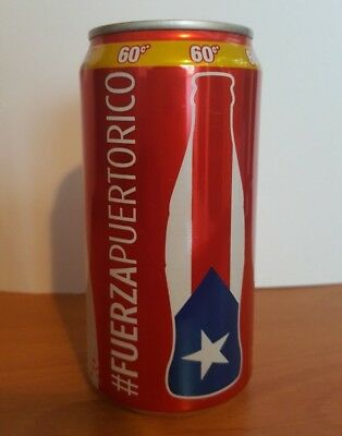 #FUERZAPUERTORICO Coca Cola Empty Can Encouragement for PR from Hurricane Maria