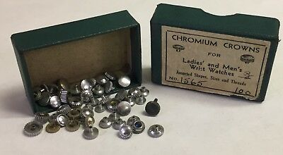 i 40+ PC Lot of Vintage Assorted Watch Crowns