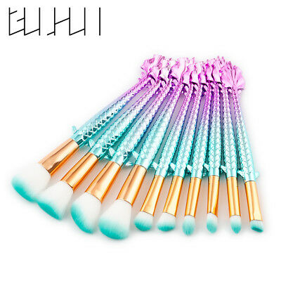 Pro 10PCS Makeup Brushes Set Foundation Powder Eyeshadow Lip Cosmetic Tools Kit