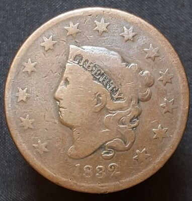 1832 Coronet Head Large Cent Nice Coin For Your Collection Free Shipping