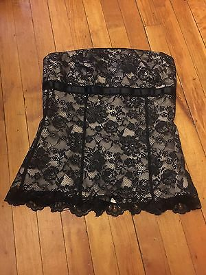 Express Fashion Lace Strap Less Top Size 2 Very Elegant & Cute For The Holiday's