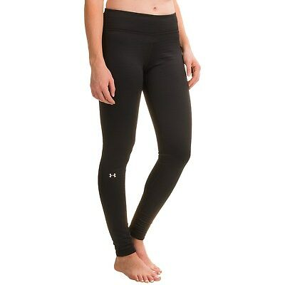 UNDER ARMOUR ColdGear Womens Black UA Base 2.0 Midweight Baselayer Legging S,M