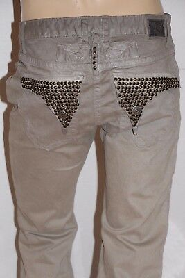 4b5f61c4 New Men's ROBIN'S JEAN -LONG STUDDED FLAPS Straight Leg Coated Jeans