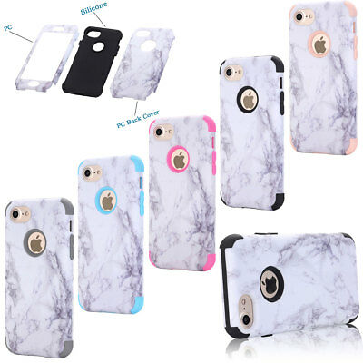 Granite Marble Pattern Protective Full Body PC Cover Case For iPhone 6 6s Plus