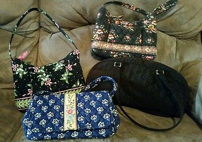 Vera Bradley New Hope Mason Blue Chocolat Espresso Mixed Lot Jilly Molly Satchel
