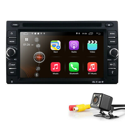 """Backup Camera+Double 2 Din 6.2"""" Android 9.0 GPS WIFI Car Stereo DVD Player Radio"""