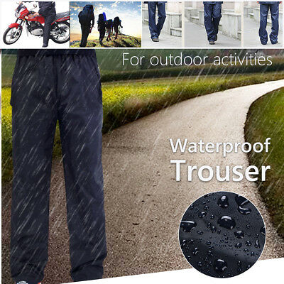Waterproof Rain Over Pants Trouser Fishing Outdoor Wear Walking Motorcycle M-2XL