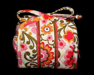 VERA BRADLEY All Wrapped Up Roll Up Jewelry Bag Flolkloric Pinks Green Floral