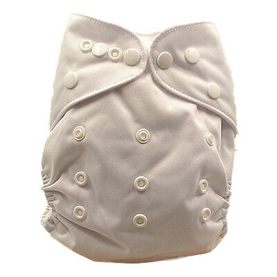 New Baby Infant Solid White Modern Cloth Nappy Nappies Diaper Cover Liner (P11)