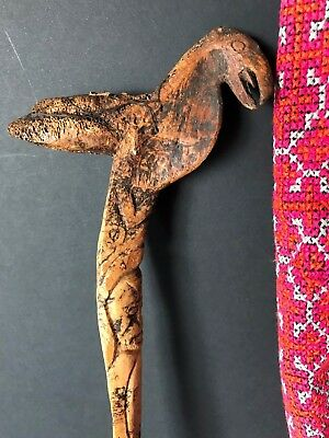 Old Papua New Guinea Abelam Carved Cassowary Dagger …beautiful collection piece